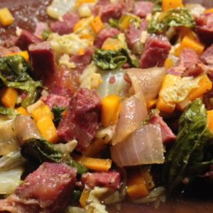 Deconstructed Corned Beef and Cabbage