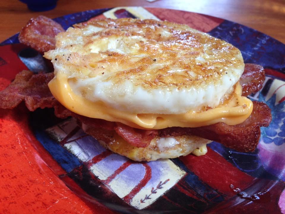 Breakfast Sandwich without the bread